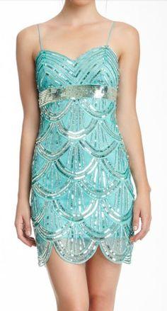 Mermaid sequined dress