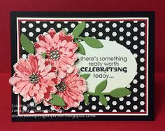 Stampin' Up! hand crafted birthday card from Stamping Inferno . trio of flowers . like the sentiment . Choose Happiness, Die Cut Cards, Pretty Cards, Watercolor Cards, Stamping Up, Flower Cards, Hello Everyone, Paper Design, Stampin Up Cards