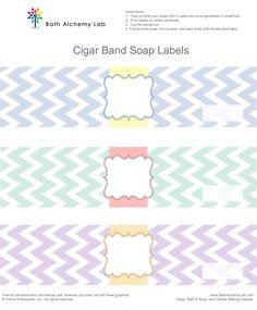 Free Chevron Cigar Soap Labels ~ Bath Alchemy Lab