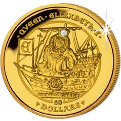 British Virgin Islands 2009 - Coronation of Queen Elizabeth I - Proof Fine Gold with Pearl