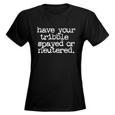 Star Trek / Tribble Women's Dark T-Shirt
