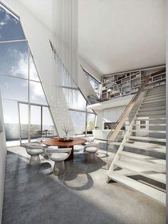 Interior of Daniel Libeskind's Berlin Sapphire Apartment