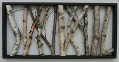 Birch Wall Hanging  Black and White Open Art by MadeAtTheLake, $95.00