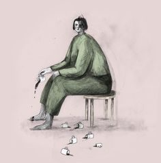 I have a weak spot for these lovely, quirky lillte characters by Norway based illustrator Marianne Engedal. Lost In Thought, Creative Design, Norway, Sketches, Black And White, Portrait, Drawings, Artist, Instagram Posts