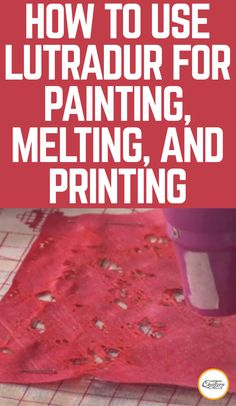 Heather Thomas talks about a hot new product called lutradur that can be used for painting, melting, and printing. There are two different types – 70 g and 100 g – to use depending on your project. This video will show you an example of multiple ways you can use either weight lutrador for your next quilting project.