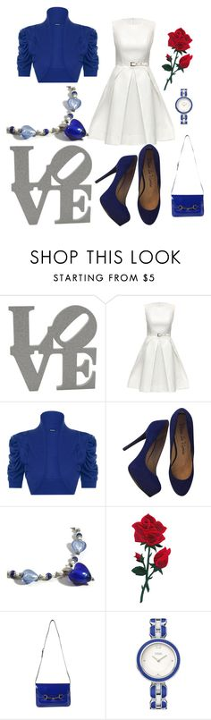 """""""Love"""" by belairdesigns ❤ liked on Polyvore featuring Lattori, WearAll, Pour La Victoire, Gucci, Fendi, love, beautifulyou and bluehearts"""