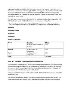 Ugc net coaching in Chandigarh   ugc net education Coaching in Chandigarh