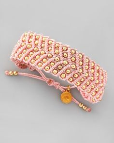 Beaded Friendship Bracelet, Light Pink by Blee Inara at Neiman Marcus.