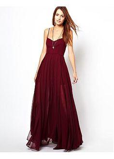 Glamorous Chiffon Sweetheart Neckline Floor-length A-line Evening Dress