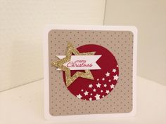 #Christmas #card using the stars #framelits and border #punch #stampinup #su #inksandpieces #papercrafting #diy