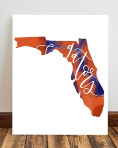 UF Florida Gators Silhouette Printable Art by BoutiqueofInk