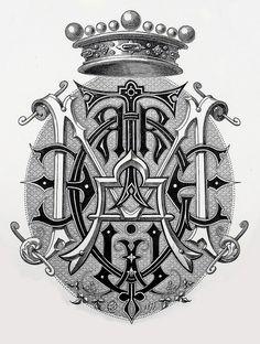 "Monogram ""Marguerite"" by Charles Demengeot - 1877"