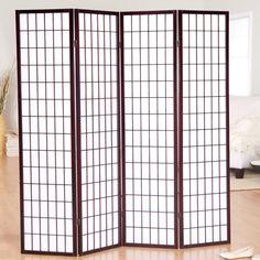 Jakun Rosewood Shoji 4 Panel Room Divider - 85065