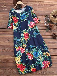 NWT A New Day Womens Floral Chiffon Midi Dress Blue XL 12432