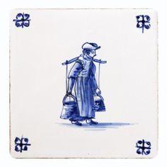 Origineel Delfts blauwe tegel Stockfoto - 9849340