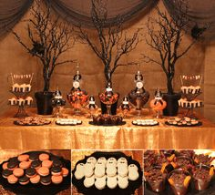 Halloween decorations aren't solely confined to outside. Actually, Halloween table decoration is some thing that I am positive you really care about. But developing a table decoration means becoming creative and mad at precisely the exact same moment. Halloween Candy Buffet, Halloween Table Decorations, Halloween Dinner, Halloween Food For Party, Halloween Party Decor, Holidays Halloween, Halloween Desserts, Spooky Halloween, Halloween Themes