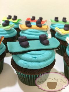 snowboard cupcakes - Google Search