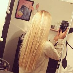 long blonde hair. I love it blunt cut rather than wispy at the end