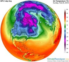 """Robert Rohde on Twitter: """"The North Pole is warmer than much of Europe right now.… """""""