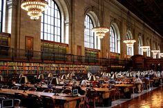 Because of Ghostbusters, I will never be able to take the New York Public Library reading room seriously. But it's still beautiful.