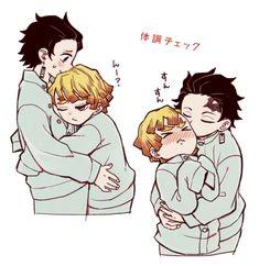 Honestly who wouldn't want to give Zenitsu a hug Demon Slayer, Slayer Anime, Killua, Vaporwave Wallpaper, Anime Character Drawing, Matou, Fandoms, Demon Hunter, Anime Couples Manga