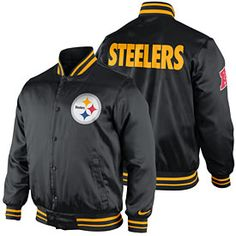 Get this Pittsburgh Steelers Snap Front Start Again Jacket at  ThePittsburghFan.com Steelers Jacket e15aab081