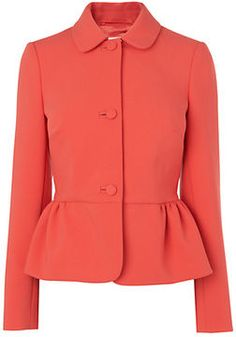 Boutique by Jaeger Peplum Jacket, Bright Orange on shopstyle.co.uk