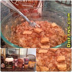 "Cinnamon Roll PROTEIN Oatmeal ""Proats"" Recipe (Low Sugar/High Fiber)"