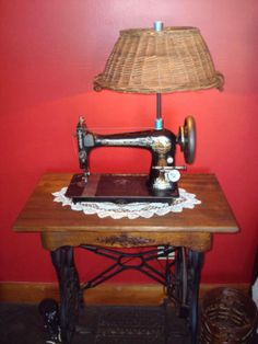 Have one to sell? Sell it yourself Details about Sewing Machine Lamp Light 1892 Singer Antique Upcycle Repurposed Vintage Rustic