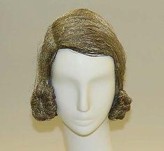 1920s metallic thread wig, American or European. Via MMA.