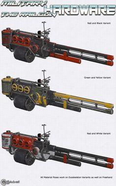 Military Hardware - The Railgun   Props for Poser and Daz Studio