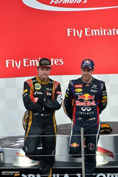 Sebastian Vettel & Kimi Raikkonen