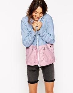ASOS Color Block Rain Trench. Literally cutest jacket ive ever seen