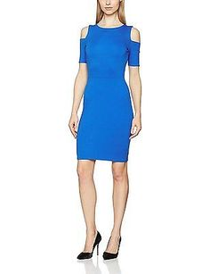 42, Blue (Sure Blue), Tom Tailor Women's Feminine Punto Dress NEW