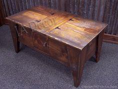 Bon Reclaime Wood Coffee Table   Country Primitive Coffee Table With Storage    Storage Coffee Table