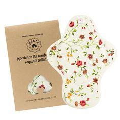 Hesta Organic Reusable Cloth Menstrual Period Pad (REGULAR) (Erin) at Amazon Women's Clothing store: