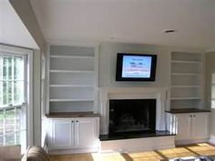 Built In Bookcases Around Fireplace Bing Images Ins Wall