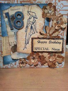18th niece card