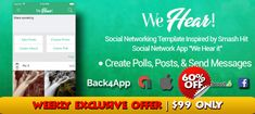 Buy We Hear Social Networking App Source Code Edit Your Photos, Super Deal, Cyber Monday, Social Networks, Black Friday, Coding, Messages, App, Facebook