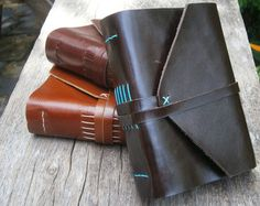 This handmade leather journal is of high-quality, luxurious leather; it is soft, shiny and smooth. Dark brown leather wraps the pages in this journal with care and protection with a traditional envelope design. Diary Book, Book Journal, Journals, Journal Diary, Envelope Design, Handmade Books, Leather Journal, Etsy, Free
