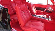 Black 67 Camaro Red Interior - interior by shannon. custom seats console door panels
