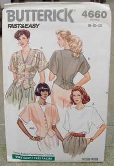 1990 Uncut Fast & Easy Butterick Pattern by lovelylovepatterns