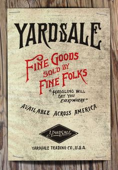 Yardsale by Jon Contino