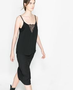 ZARA - WOMAN - LINGERIE-STYLE TOP WITH DOUBLE STRAP