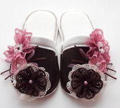 Shabby Chic Girls Slippers Childrens clothing ♥ by MoJosCozyToes, $55.00