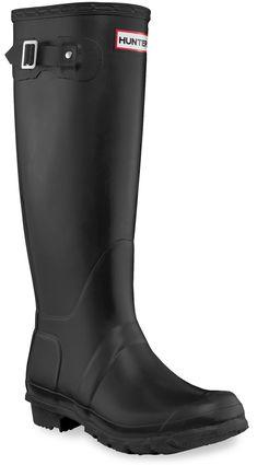 499b69432cb Hunter Women s Original Tall Wellington Rain Boots Black 10