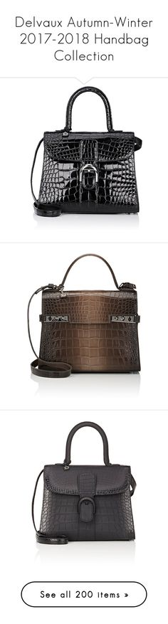"""""""Delvaux Autumn-Winter 2017-2018 Handbag Collection"""" by haikuandkysses ❤ liked on Polyvore featuring bags, handbags, alligator handbags, satchel purses, satchel handbags, satchel style purse, alligator purse, croc handbags, brown satchel and satchel style handbags"""