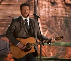 Blake Shelton performs on the 56th Annual GRAMMY Awards on Jan. 26 in Los Angeles