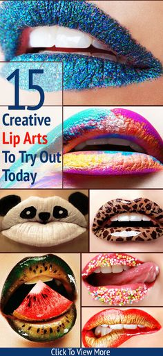 15 Creative Lip Arts To Try Out Today : I have complied 15 creative lip arts, which I hope will encourage you to try something different