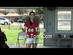 Young woman golfer demonstrates a golf drill that can be eye opening. Using your mind's eye instead of your physical eye to improve your shotmaking. She is a student of golf pro Tom Ward.